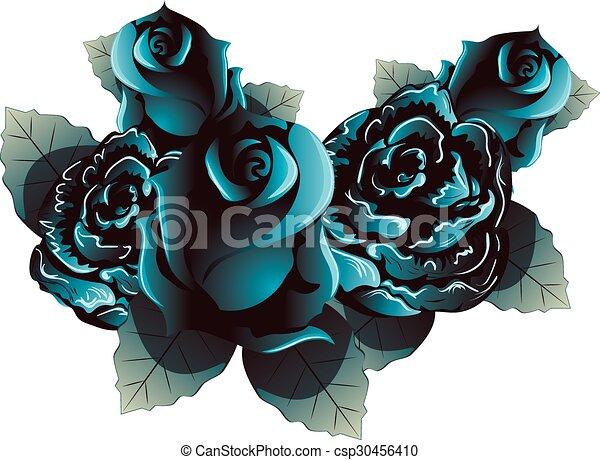 Blue Roses - csp30456410