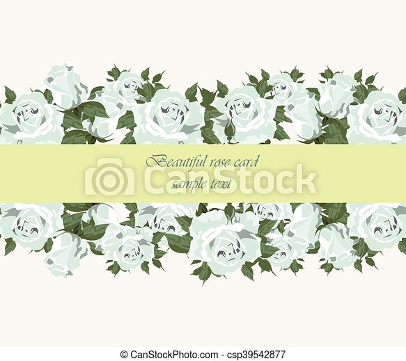 Blue roses vintage background - csp39542877