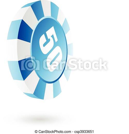 Blue roulette chip - csp3933651