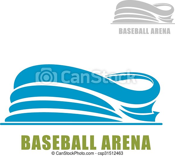 blue round baseball stadium icon baseball stadium icon with clip rh canstockphoto com baseball field clipart black and white baseball field clipart black and white