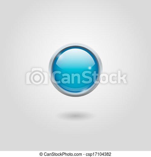 Blue round button - csp17104382