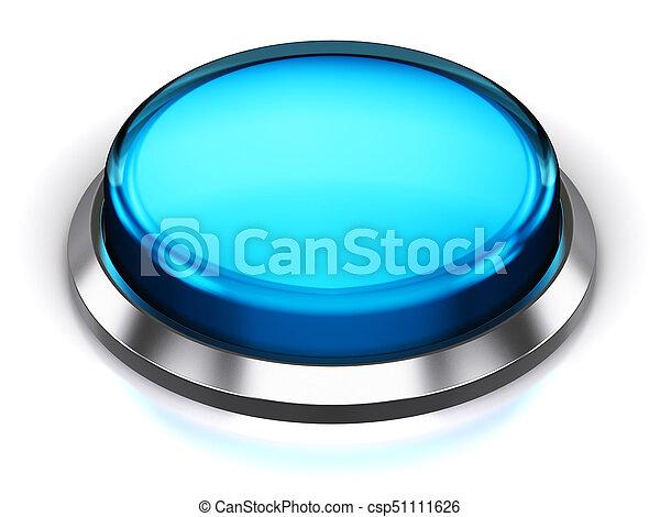 Blue round button - csp51111626