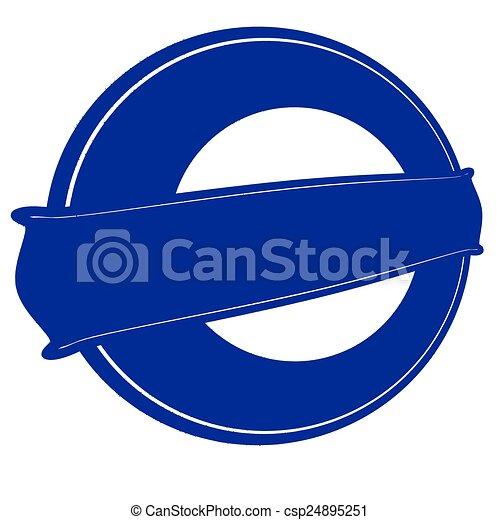 Blue round stamp - csp24895251