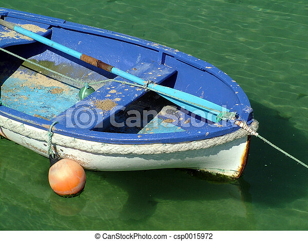 Blue Row Boat - csp0015972