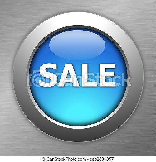 blue sale button - csp2831857