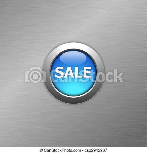 blue sale button - csp2942987