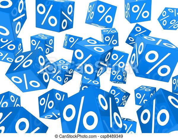 blue sale percent cubes - csp8489349