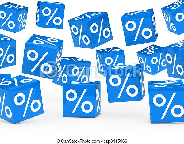 blue sale percent cubes - csp8415966