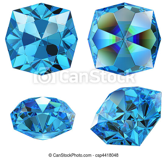 blue sapphire gem isolated - csp4418048