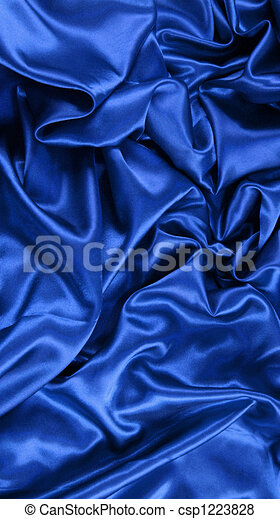 Blue satin - csp1223828
