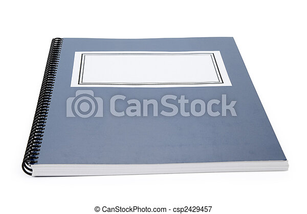 Blue school textbook - csp2429457