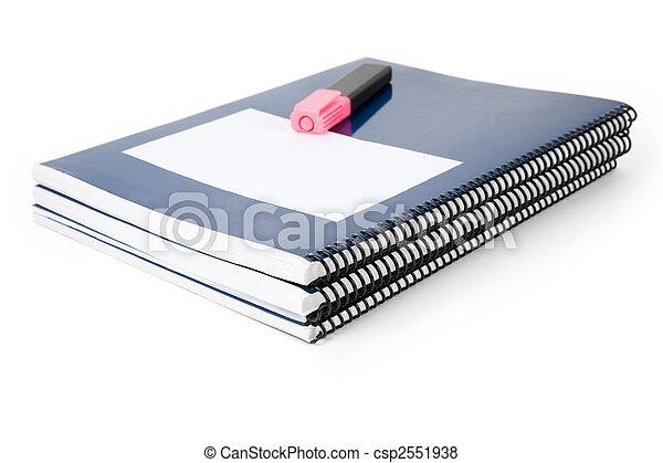 Blue school textbook - csp2551938