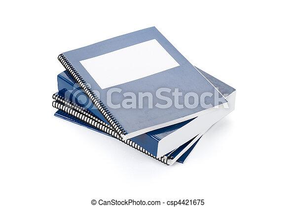 Blue school textbook - csp4421675