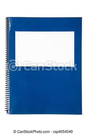 Blue school textbook - csp4054049