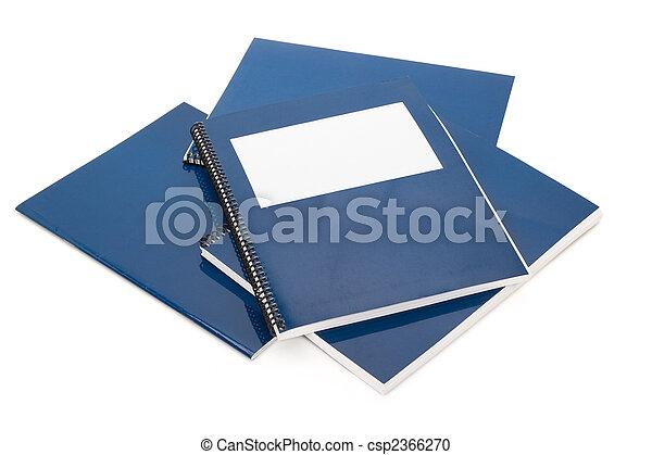 Blue school textbook - csp2366270