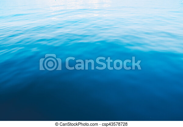 blue sea abstract background - csp43578728