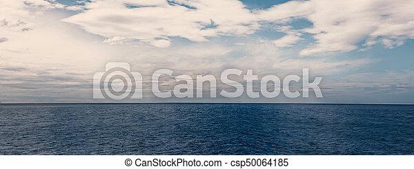 Blue sea and sky horizon - csp50064185