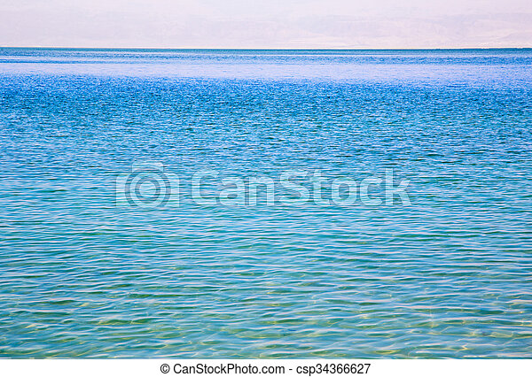 Blue sea and sky horizon - csp34366627