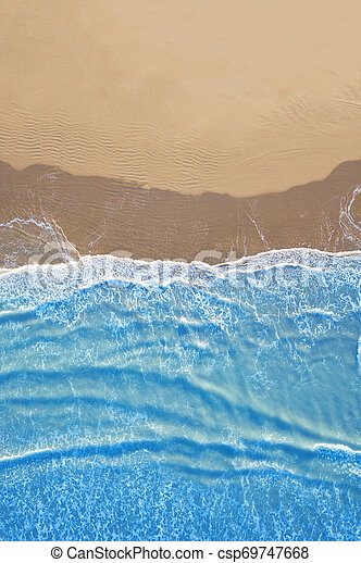 blue sea at the beach seen from above - csp69747668