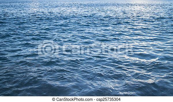 blue sea background - csp25735304
