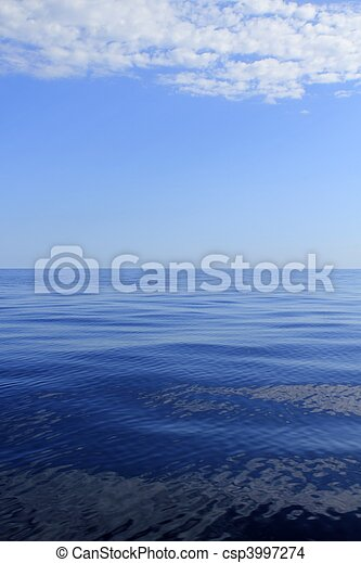 blue sea horizon ocean perfect in calm - csp3997274