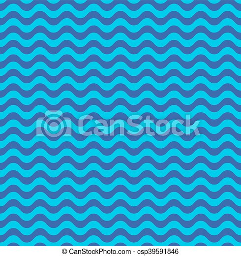 Blue sea waves seamless pattern - csp39591846