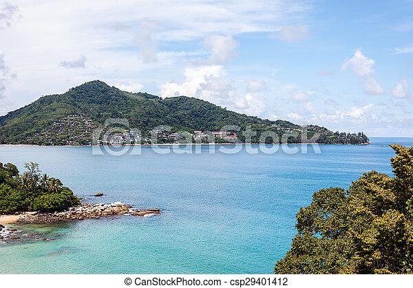 Blue sea with blue sky - csp29401412