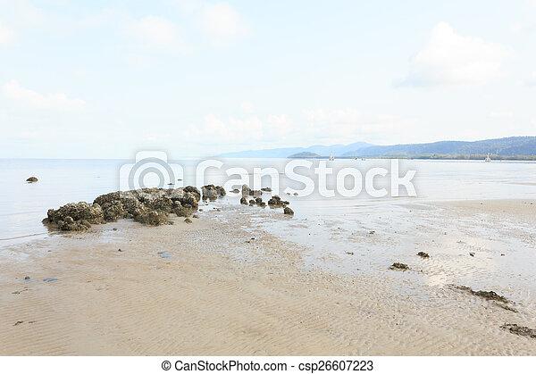 Blue sea with blue sky - csp26607223