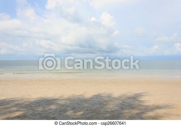 Blue sea with blue sky - csp26607641