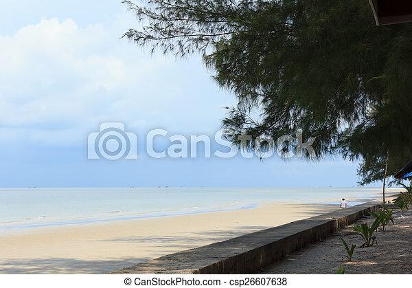 Blue sea with blue sky - csp26607638