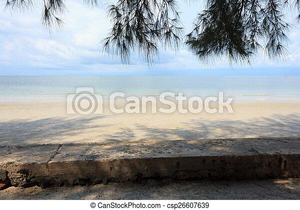 Blue sea with blue sky - csp26607639