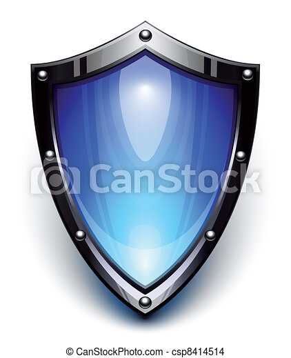 Blue security shield - csp8414514