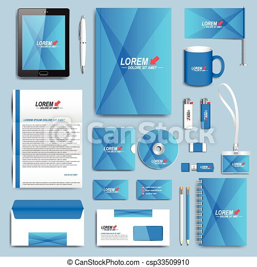 Blue set of vector corporate identity templates modern business blue set of vector corporate identity templates modern business stationery design accmission Image collections