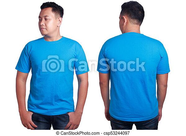 Blue Shirt Mockup Template Blank Tshirt Mock Up Front And Back