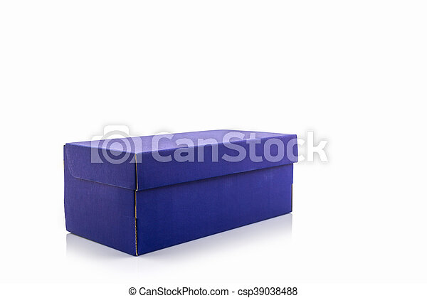 blue shoe box blue shoe box on white background paper box for