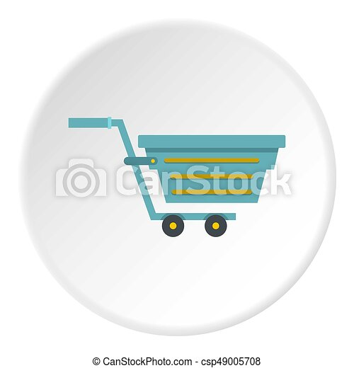 Blue shopping cart icon circle - csp49005708