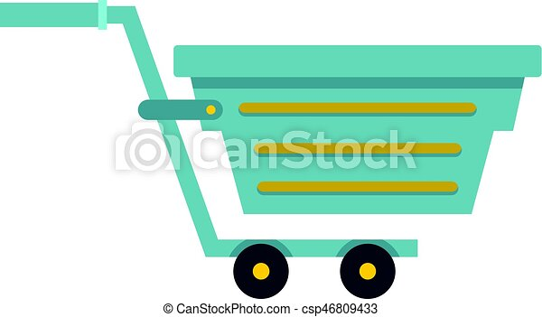 Blue shopping cart icon isolated - csp46809433