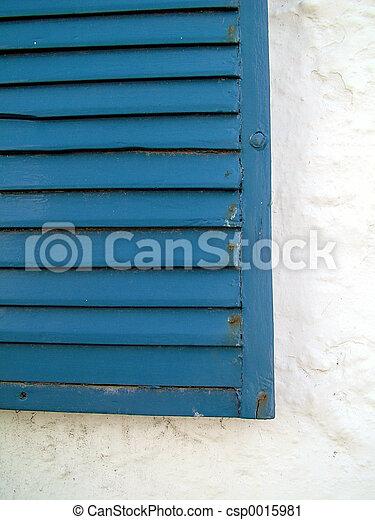 Blue Shutters - csp0015981