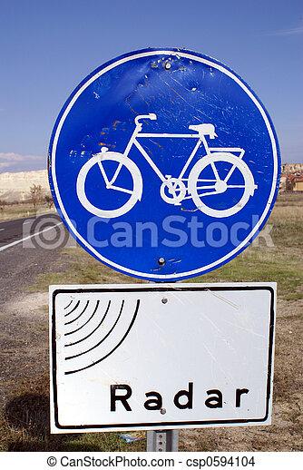 Blue sign - csp0594104