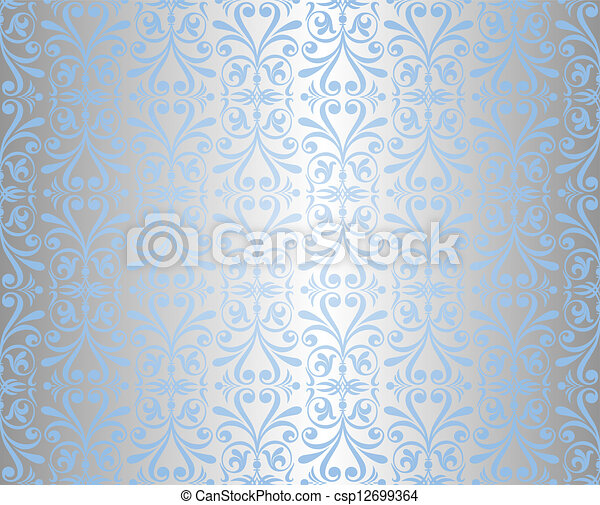 blue silver background csp12699364