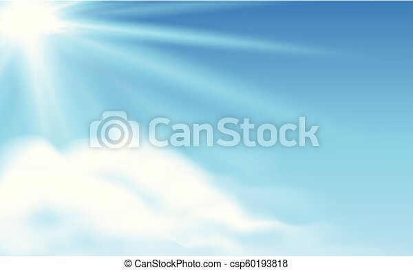 Blue sky and cloud scene - csp60193818