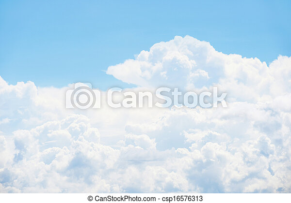 Blue sky and clouds - csp16576313