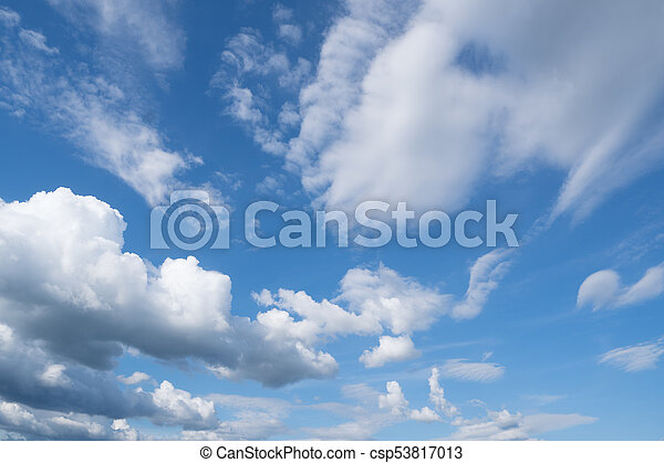 blue sky and clouds - csp53817013