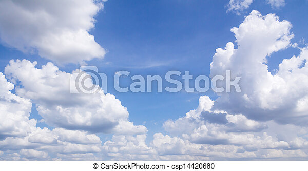 Blue sky and clouds - csp14420680