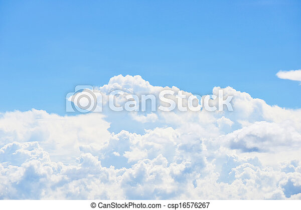 Blue sky and clouds - csp16576267