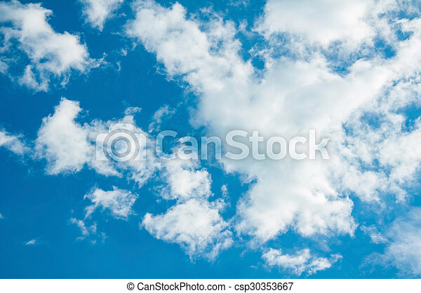 Blue sky and clouds - csp30353667