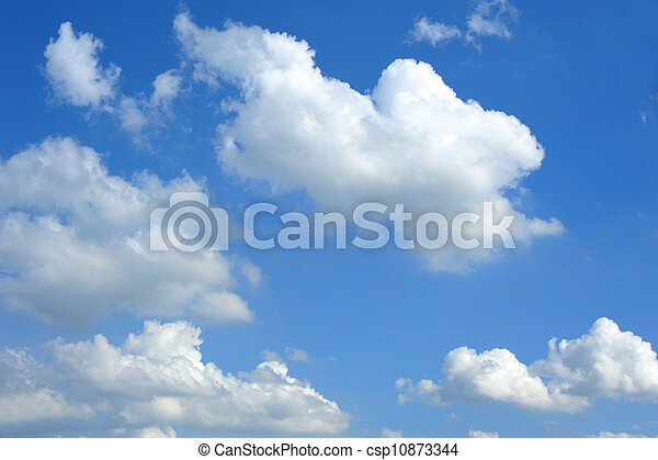 blue sky and clouds - csp10873344