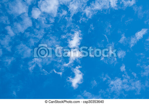 Blue sky and clouds - csp30353640
