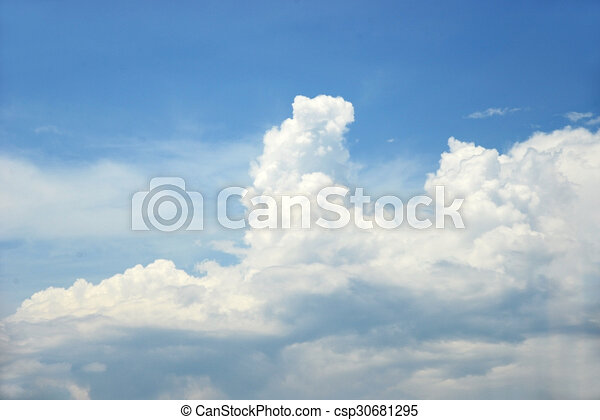 Blue sky and clouds - csp30681295