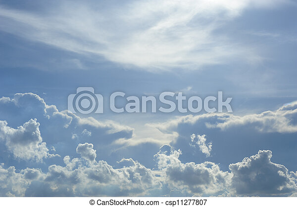 blue sky and clouds - csp11277807